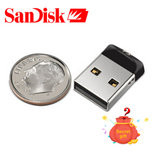 Original SanDisk Cruzer Fit Pendrive 8GB mini USB Flash Drive 32G 16GB USB 2.0 SD CZ33 Memory stick with free gift(China)