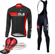 fastcute Pro Mens Cycling Jersey ALE Thermal Fleece Cycling Clothes Bicycle Winter