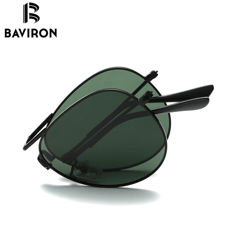 BAVIRON Foldable Aviator Sunglasses Mans Metal Toad Sunglasses Polarized Classic Glasses Cool Pilot Driving Sun Glasses 3025ZD<br><br>Aliexpress
