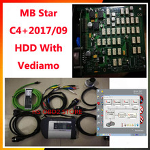 High level mb star c4 connect full set + 2017.09 DAS MANACO DTS Vediamo HDD SD Compact C4 with WIFI in stock mb star c4 software(China)