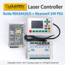 RD Ruida RDC6442G 6442G DSP Controller  + Meanwell 24V 3.2A 75W Switching Power Supply for Co2 Laser Engraving Cutting Machine