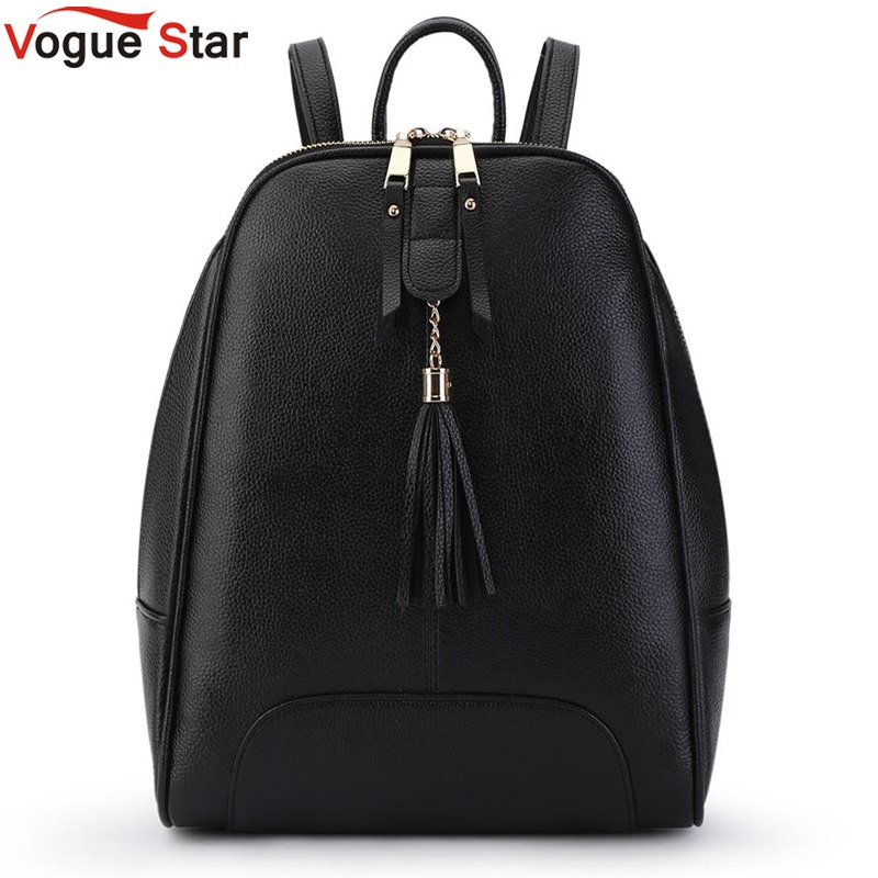 Vogue Star 2017 New Casual Women Backpack Female PU Leather Womens Backpacks Bagpack Bags Tassel Travel Bag back pack LA410<br><br>Aliexpress