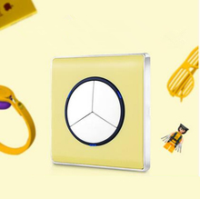 EU Standard 3 gang 1 way light switch and lamp pull switch, AC110-220V wall switch,Yellow push button switch with LED ndicator