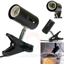 Aquarium Reptile Light Holder Clamp Ceramic Infrared Emitter Heat Lamp Stand US Plug Black(China)