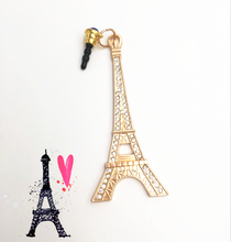 3.5mm Paris Eiffel Tower Anti Dust Stopper Earphone Jack Plug Cap For iPhone And For All Normal 3.5mm Earphone Dust Plug
