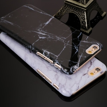 New Granite Marble Texture Pattern Phone Cases Hard PC Case for iPhone 5 5S SE 6 6S 6Plus 6s plus 7 7Plus Shockproof Phone Bag(China)