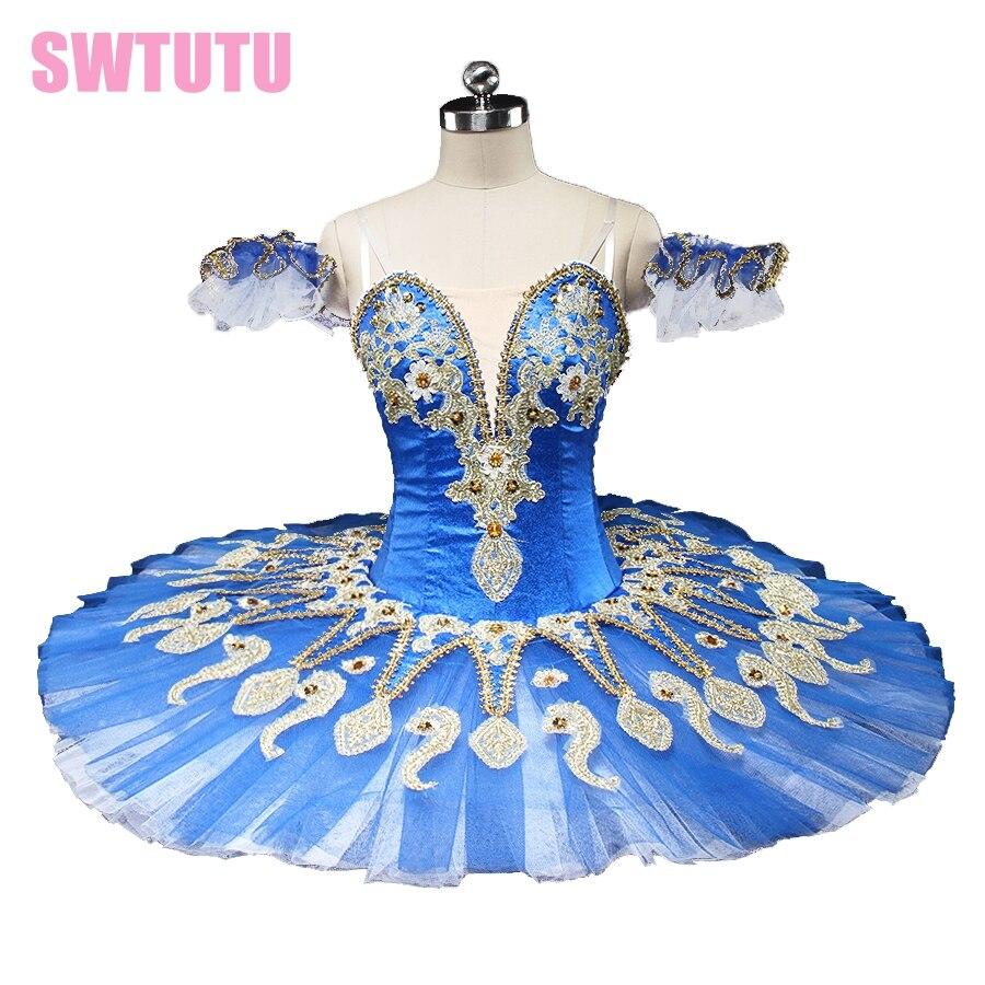 new blue swan lake ballet tutu platter performance sugar plum fairy professional pancake ballet tutu blue bird BT9134C