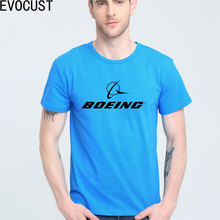 BOEING AEROPLANE LOGO short sleeve T-shirt Top Lycra Cotton Men T shirt New DIY Style(China)