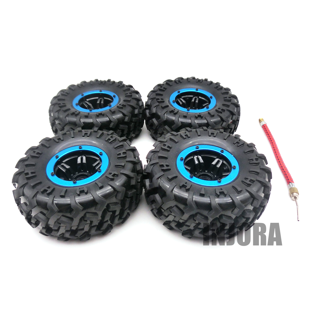 Austar AX-3024 Air Pneumatic Beadlock Wheel Rim and Tire for 1/10 HSP HPI Tamiya Traxxas Kyosho Monster Truck 1:10 RC Car Parts<br>