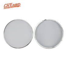 GHXAMP White 4 inch Car Speaker Grill Mesh Enclosure net Speaker Grilles Protective Cover Decorative Ring DIY 2PCS