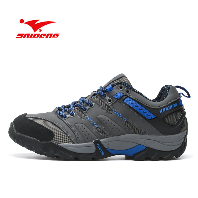 BAIDENG New Autumn Waterproof Genuine Leather Warm Men Shoes Comfortable Outdoor Shoes Men Hiking Shoes Breathable Chaussure<br>