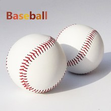"1 Piece 2.75"" White PU Base Ball Baseballs Practice Exercise Trainning Softballs Soft Ball Sport Team Game Outdoor Activity(China)"