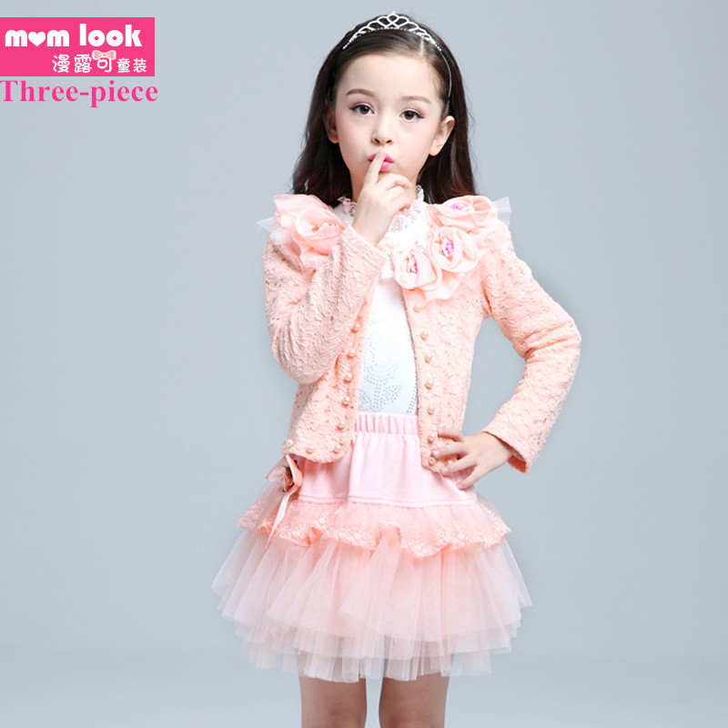 Flower girls Dress spring style Kids Clothing Children set 2017 Summer dress for Girl Princess Dress child girls clothes<br><br>Aliexpress