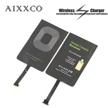 AIXXCO 1A Universal Qi Wireless Charger Receiver Charging Adapter Receptor Pad Samsung Xiaomi Android Micro USB mobile - Direct Store store