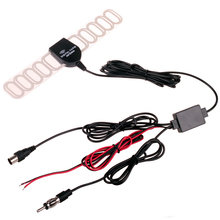 Car Dash DVD Ftype IEC SMA Plug Analog Digital TV DVBT ATSC Antenna with Radio FM and DC Power Amplifier
