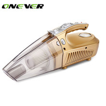 Onever 12v car air compressor tyre inflator infaltion pump 120W handheld car vacuum cleaner auto portable dust brush for car(China)
