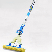 341220/Fold the sponge mop water, stainless steel rod rubber elastic cotton mop water, microfiber mop head(China)