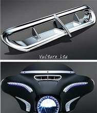 Chrome Front Fairing Vent Bezel Accent For Harley Touring & Trike 2014-2015 New
