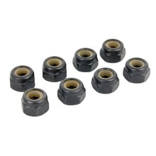 8pcs 02055 Nylon Lock Nut M4 4mm 02055 HSP Spare Parts For 1/10 R/C Model Car Replacement(China)