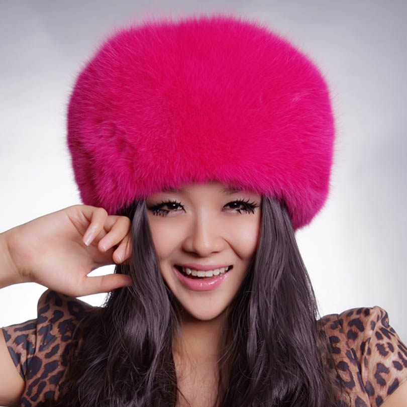 Real Fox Fur Princess Caps Winter Warm Women`s Fashion Fox Fur Hats Beanies For Female Outwear Free SizeОдежда и ак�е��уары<br><br><br>Aliexpress