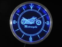 nc0355-b Motorcycle Bike Sales Services Neon Sign LED Wall Clock Wholesale Dropshipping