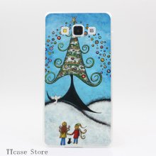 3704CA The Spirit Of Christmas Transparent Hard Cover Case for Galaxy A3 A5 A7 A8 Note 2 3 4 5 J5 J7 Grand 2 & Prime
