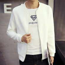 Spring Autumn Fashion Style Men Coat Four Colors Base Ball Cloth Large Size Male Tops Solid Full Sleeve Slim Looking Zipper(China)