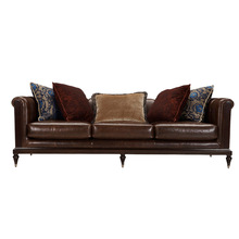 Contemporary 3 Seater Leather Modern Sofa Design ,Mid century modern designer leather sofa