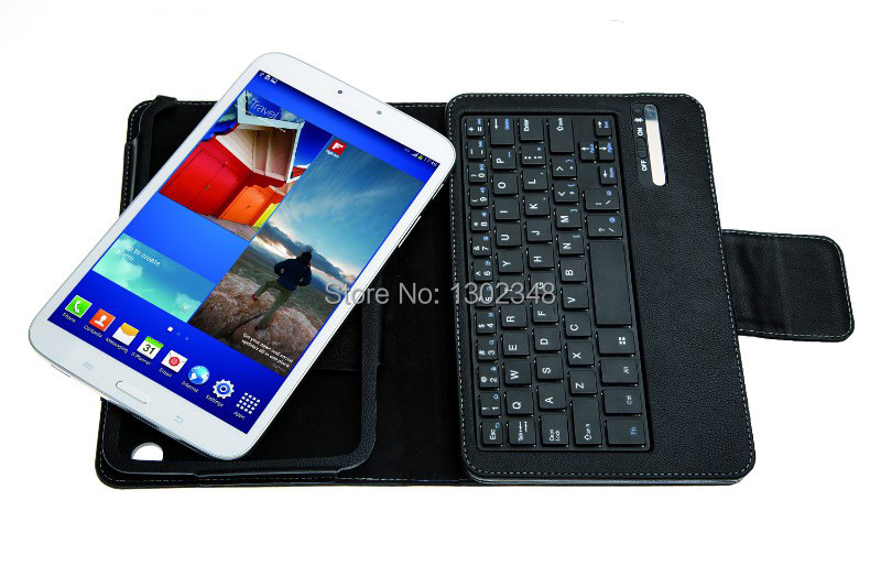 New Russian Removeable Wireless Bluetooth Keyboard Stand Leather Cover Case For Samsung Galaxy Tab 3 T310 T311 8.0 Tablet PC<br><br>Aliexpress