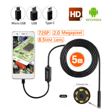 Shekar 2.0 Megapixel HD USB Endoscope Digital Borescope Inspection Camera Waterproof SnakeTube Camera with 6 LED 8.5mm Head