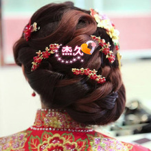 Wedding Bridal Sticks Hairpins With Flower Hair Bridesmaid Beaded U Hair Pin Clip For Women Accessories HMY-005(China)