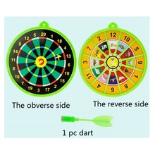 1 pc magnetic dart target Two-sided shooting Target Children toy Classic Toys Kids Fun Outdoor game shooter double-edged
