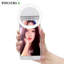 POWSTRO Selfie Portable Flash 36-Led Camera Photography Ring Light for Smartphone iPhone 6 plus 6s 6 5s 5 4s 4 Samsung Galaxy
