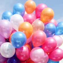 100 pieces 10inch Latex Balloon Helium Thickening Pearl Celebration Party Wedding Birthday Decoration Balloon Party Supplies 7Z(China)