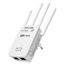 PIXLINK LV - AC05 1200Mbps WIFI Repeater/Router/Access Point Dual Band Wireless Wi-Fi Repeater Extender With 4 External Antennas