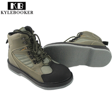 Men's Fishing Hunting Wading Shoes Breathable Waterproof Boot Outdoor Anti-slip Wading Waders Boots(China)