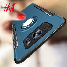 H&A Luxury Hard Plastic Case For Samsung Galaxy S8 Plus S7 Edge Cover Soft TPU Silicone Finger Ring For Samsung S8 Plus S7 Case