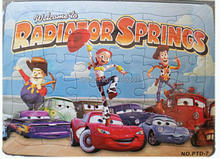 Free shipping premiums GC-PTD-7-OPP blue 25.6 X 18.6 cm 36PCS Pixar Radiator Springs Cars Jigsaw puzzle manufacturer toy