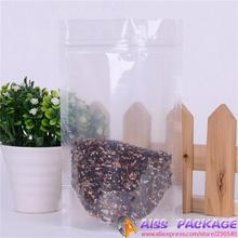 AISS-clear plastic bag,zip lock bag,9x13cm,stand up bag,seed bags,,food saver,clear candy containers