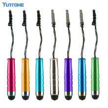 With the function of 3.5 mm dustproof plug good quality popular Mini Capacitive Stylus Touch Pen For Ipad,For Iphone 3000pcs/lot(China)