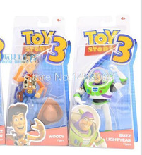 Free Shipping Toy Story 3 Woody Sheriff + Buzz Lightyear PVC Action Figure Toys 2pcs/set DSFG012