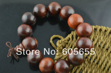 18mm Red Sandalwood Wood Round Beads Man's Mala Prayer Bracelets Jewelry 5 pc per lot Free shipping