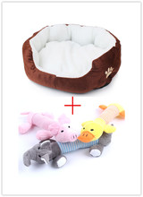 Pet Products Cotton Pet Dog Bed for Cats Dogs Small Animals Bed House Pet Beds Cushion High Quality Cheap Add Dog Toys(China)