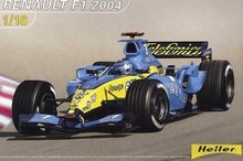 Out of print! Heller - 80797 - F1 Renault 2004 - Model Kit 1:18