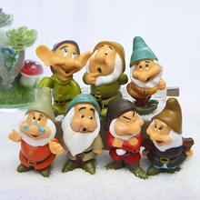 7pcs Cartoon Snow White of the Seven Dwarfs Action Figures Set Cute Seven Dwarfs PVC Action Figure Toys Collection Model Toy
