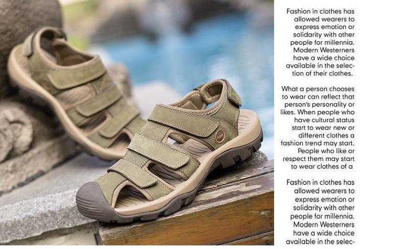 Summer Man Sandals Beach Shoes 2018 High Quality Genuine Leather Prevent Slippery Wear-resisting Outdoor Sandals Large Size 46 25 Online shopping Bangladesh