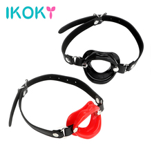 Buy IKOKY O Ring Oral Fixation Rubber Lips Adult Product Fetish Restraints Leather Sex Toys Couples SM Bondage Open Mouth Gag