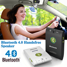 Hands free 6E Headset Bluetooth Speaker for Smartphones Multipoint Wireless Sun Visor Handsfree Bluetooth Car Kit Speakerphone(China)
