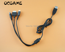 OCGAME 3 in 1 USB Charger Charging Cable Cords for Nintendo NDSL / NDS NDSI XL 3DS / psv1000 8pcs/lot(China)