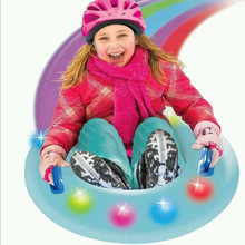 Inflatable Ring LED Flash Circle Tube Slide Snow Grass Skiing Skate Flat Floor Kid Toy Outdoor Sports